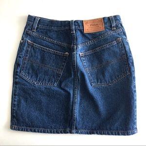 Vintage Polo Ralph Lauren Country Denim Mini Skirt